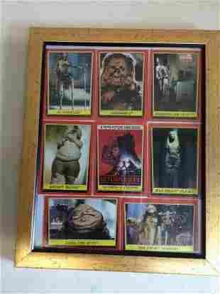 "Framed star Wars Cards 9""x11"""