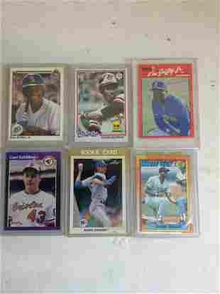 Lot of encased baseball cards 1980s
