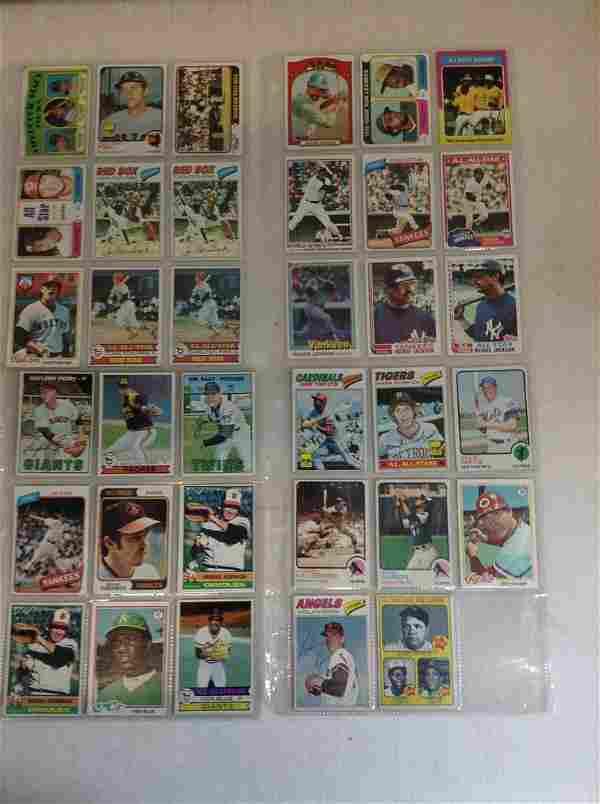 Lot of 1960's vintage baseball cards - some signed