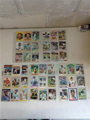 Lot of vintage baseball cards 1950s-1980s