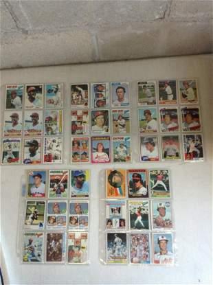 Lot of vintage baseball cards 1960s