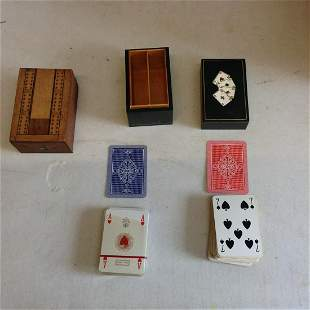 Deck of Playing cards and a wooden box