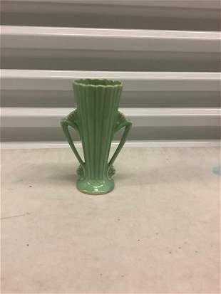 """vintage McCoy #541 mint green vase 7"""""""