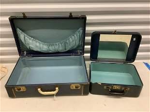 two vintage suit cases