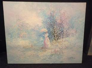 Original Oil on Canvas Signed by the Artist Walton