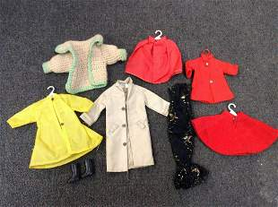 Large lot of Vintage Doll Clothes Marked Hong Kong