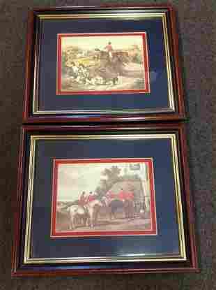 "Pair of Framed Prints 13""x11"