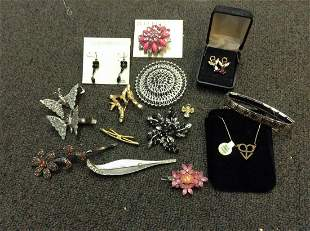 Large lot of Costume jewelry, Gold Filled Necklace and