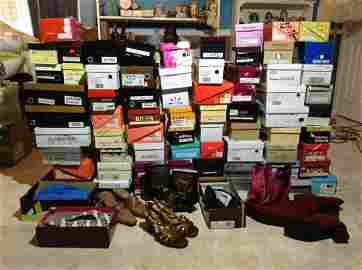 Huge Lot of New Shoes in the boxes  most sizes 7.5 & 8
