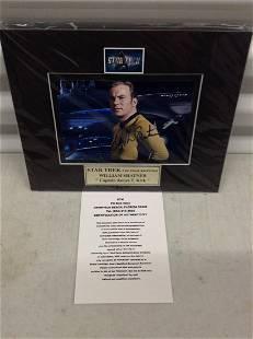William Shatner Star Trek signed photo 8x10 mat w/ COA