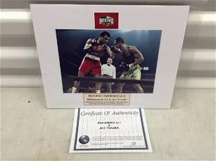 Api/Frazier signed photo 8x10 mat w/ COA