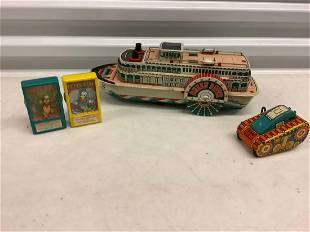 Lot of Vintage Tin and Disney Toys