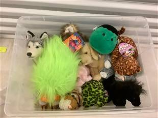 Large lot of stuffed animals, Trolls, squishmallows and