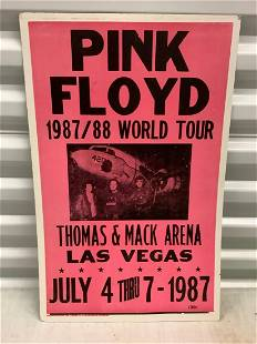 "1987 Pink Pink Floyd cardboard poster 22""x14"""