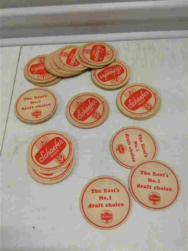 Large Lot of Vintage Schaefer Beer Coasters