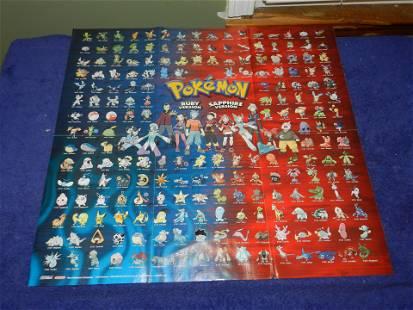 2003 Nintendo Power Pokemon Ruby Sapphire Poster
