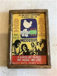 Woodstock wood sign 9x13