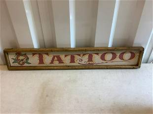 Tattoo wood sign 3 ft 6 inch