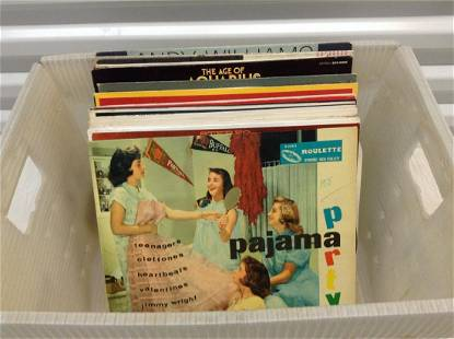 Crate of Vintage Records