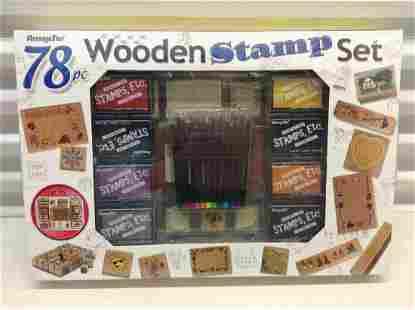 Sealed 78 Piece Wooden Stamp Set