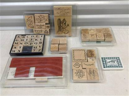 Large lot of Wooden Stamps