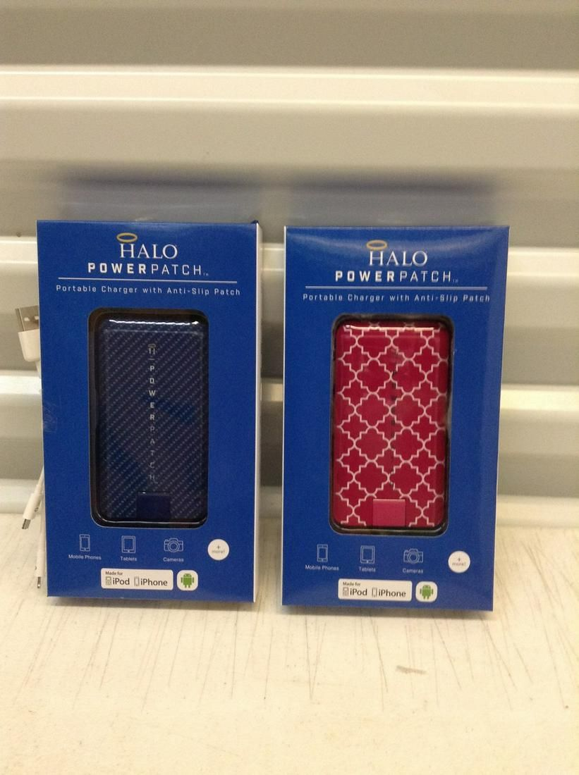 Two Halo Power Patch Portable Chargers for Apple
