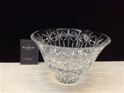 "Signed Waterford Crystal Starburst Pedestal Bowl 8"""