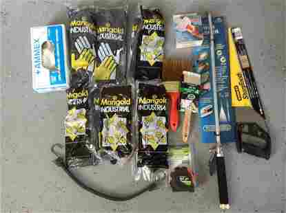 Large lot of New Tools, Industrial Gloves and more