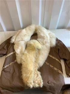 Fur, snakeskin, and leather jacket