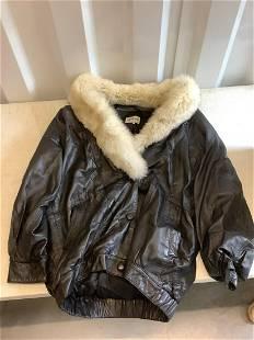 Evan Arpelli Leather and fur jacket large