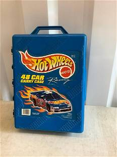 large lot of hot wheels in official hot wheels case