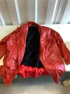 Shelley's red leather jacket with detachable liner