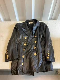 Melanzona black leather jacket