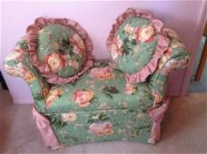 Upholstered Bench Seat with matching pillows