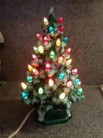 """Vintage Ceramic Christmas Tree - Works 12"""" tall"""