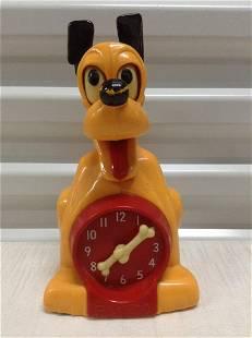 Vintage Allied Mfg Walt Disney Productions Pluto Clock