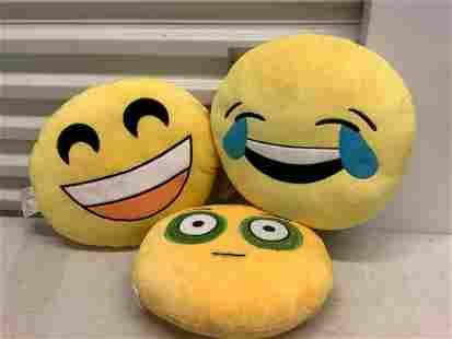 "Three ""Emoji"" Pillows"