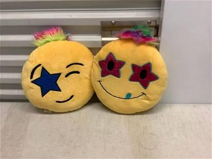 """Two """"Emoji"""" Pillows"""