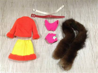 Black Label Mattel Barbie Outfits & Real Fur Stole