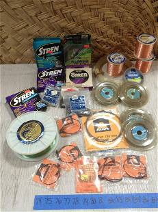 Large lot of Fishing Line , leaders and more
