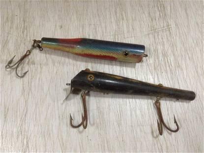 """Vintage Wood Fishing Lures longest 8"""""""