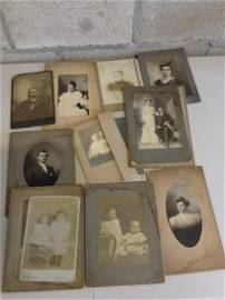 Lot of antique photos