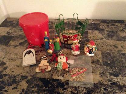 Lot of Christmas Ornaments and More