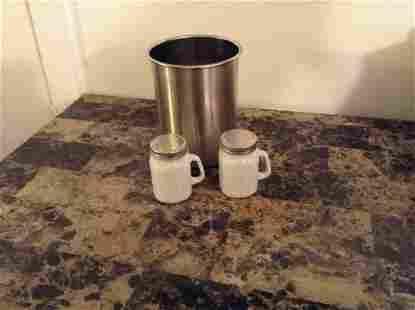 Mason Jar Salt and Pepper Shakers and Utensil Holder