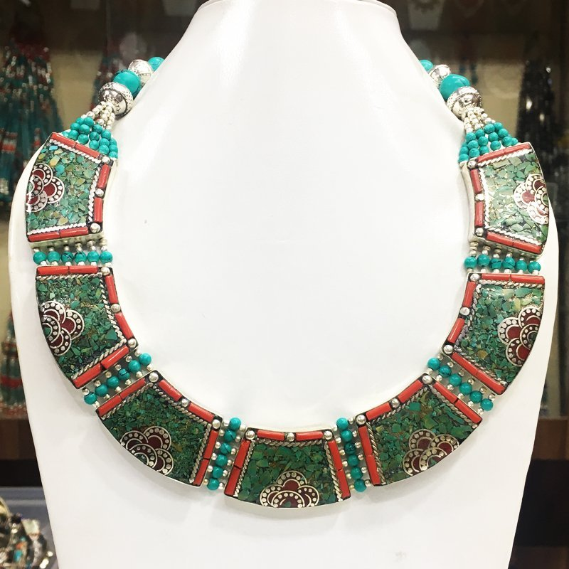 Tibetan & Nepalese Tibetan Silver Tibetan Necklace