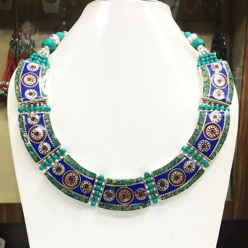 Vintage Artisan Vintage Handmade Turquoise Necklace