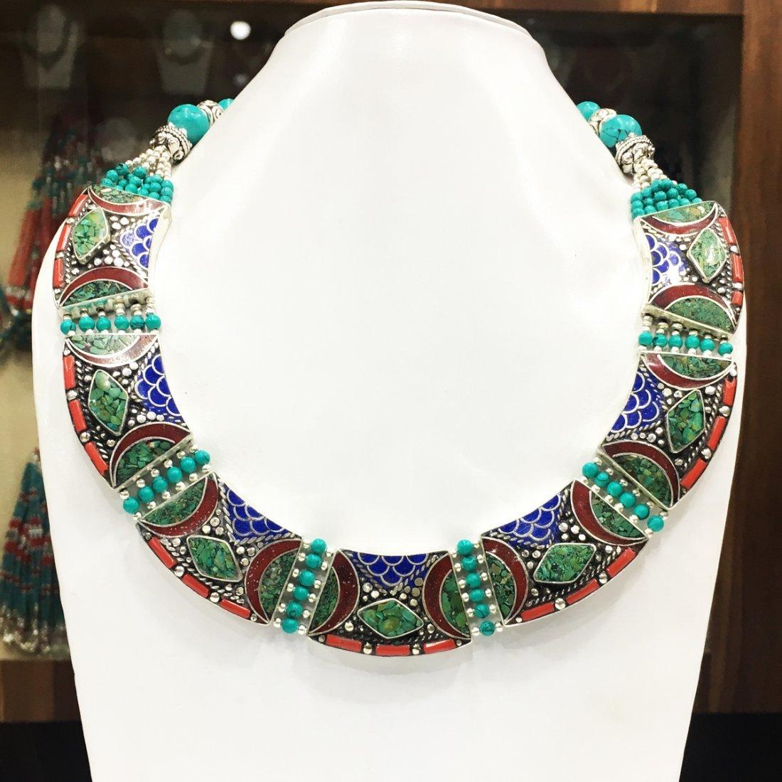 Tibetan Nepalese Handmade Turquoise Necklace