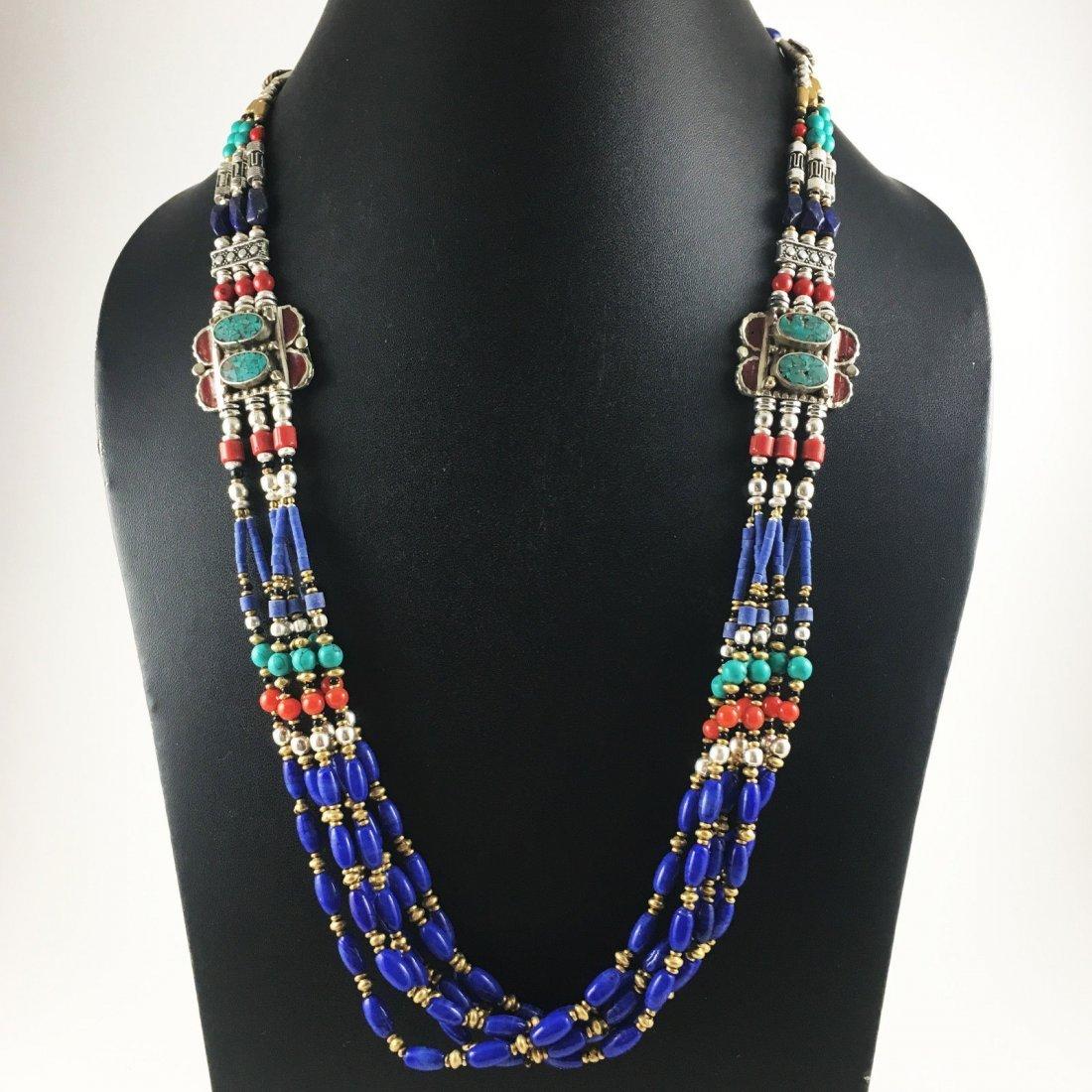 Tibetan Blue Lapis Unique Handmade Necklace