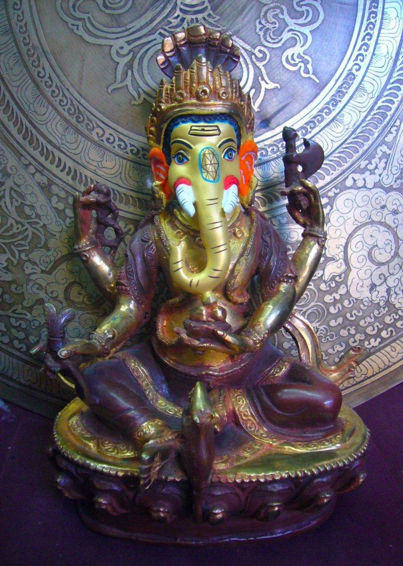 "Special Hindu God For Fortune Ganesha Gold finish 7"""
