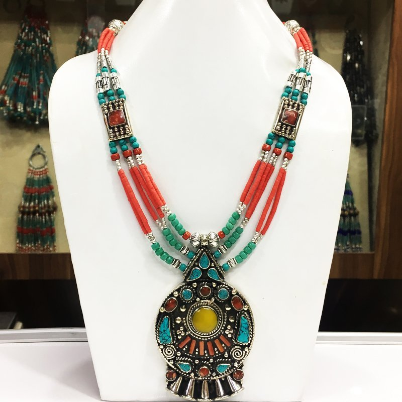 Gypsy Ethnic Antique Choker Handmade Necklace